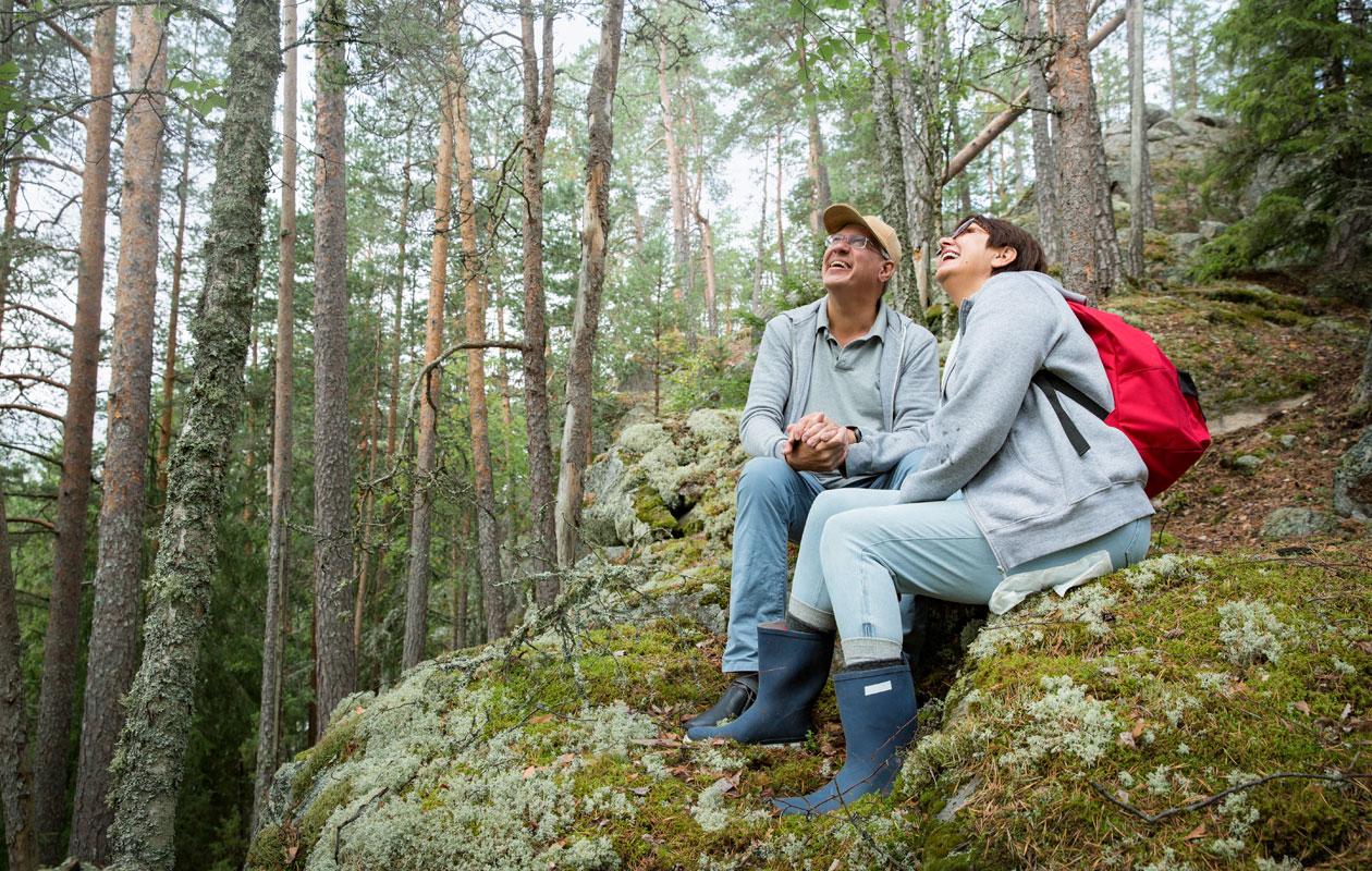 Metsä muun muassa lievittää stressiä.