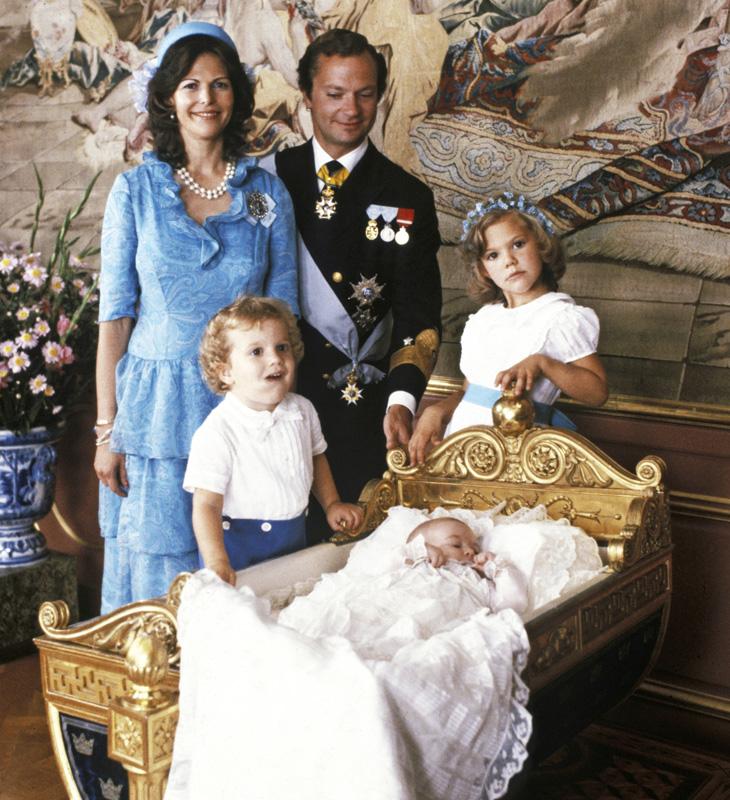 Ruotsin kuninkaallinen perhe vuonna 1982.