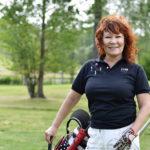 Vicky Rostin tasoitus on golfissa 22. – Olen keskitason klubipelaaja, hän sanoo.