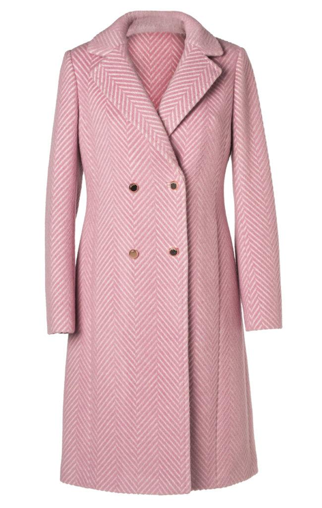 Kaksirivinen kalanruotokuosinen takki