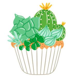 Kaktuskuppikakku on hauska idea!