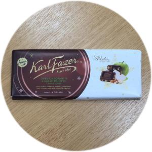 Karl Fazer Winter Edition omena, krokantti & hasselpähkinä tumma suklaa